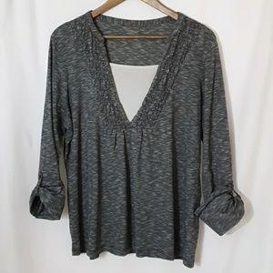Northcrest layered long sleeve shirt
